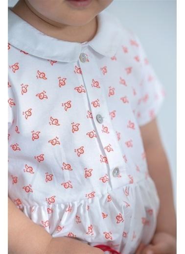 Nila Kids Nilabird Organik Kız Bebek Elbise Beyaz